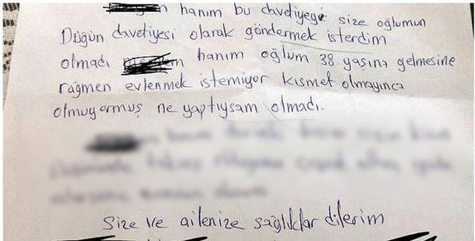 Oğlu Evlenmeyince Komşulara Borç Mektubu Gönderdi