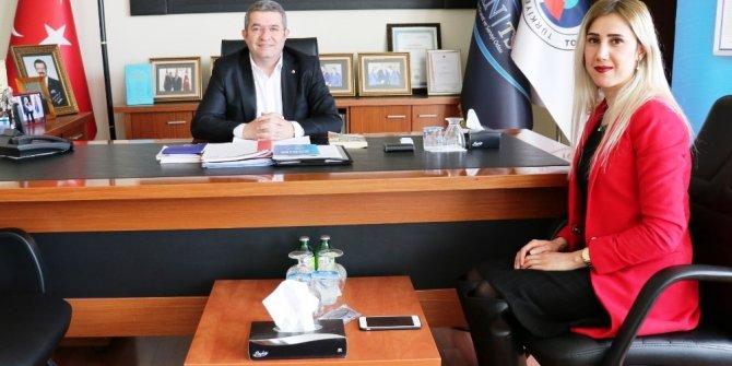 Güloğlu Sigortadan Başkan Takva'ya ziyaret