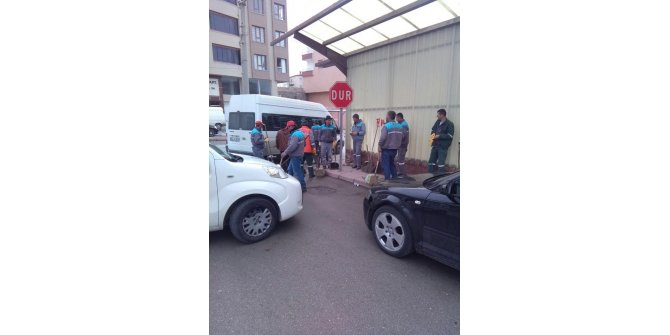 Niğde Belediyesi temizlik ekipleri mahallelerde