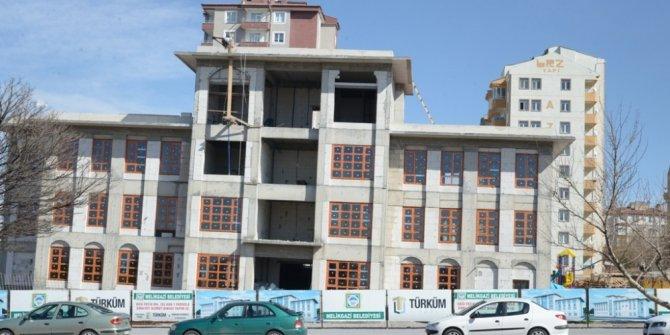 Melikgazi'de emniyet hizmet binası inşaatı devam ediyor