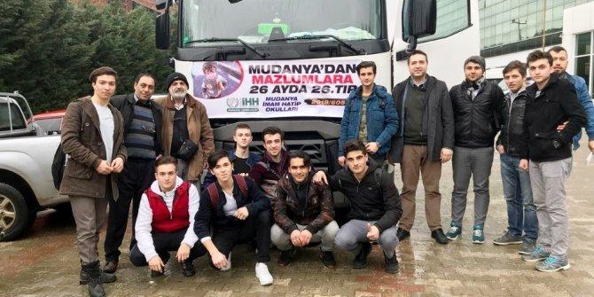 Mudanya'dan Afrin'e yardım TIR'ı