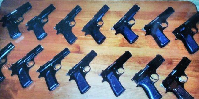 Ordu'da 14 ruhsatsız tabanca ele geçirildi