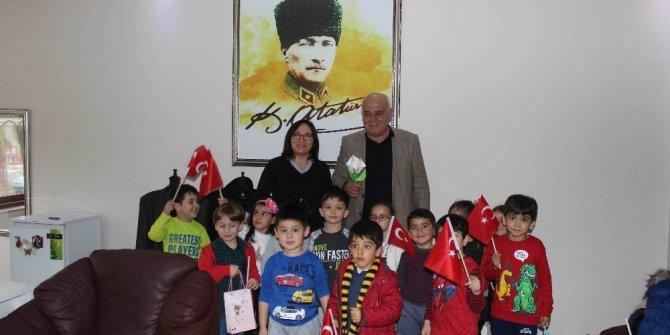 Başkan Karaçelik'e Anaokulu öğrencilerinden ziyaret