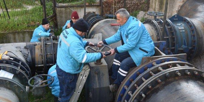 Ege'nin en büyük içme suyu deposunun vana sistemi yenilendi