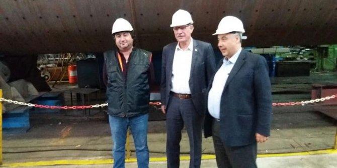 Başkan Duymuş'tan fabrika ziyareti