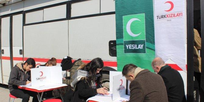 """Tekirdağ'da """"Vatan için Afrin Kardeşliği"""" kan bağışı"""