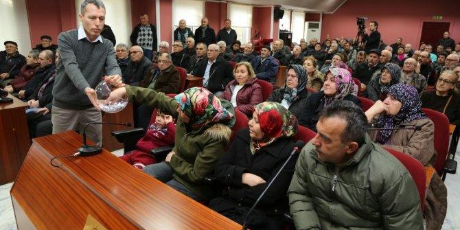 Emek Mahallesi Türkmendağı ve Gönülbağı hobi bahçesi kur'a çekilişi yapıldı