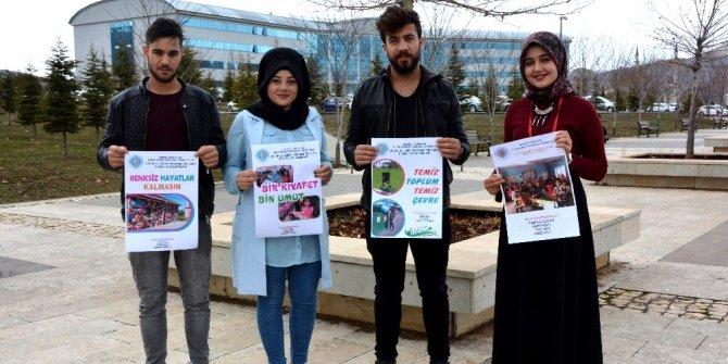 Üniversite öğrencileri, çocuklar için projeler başlattı