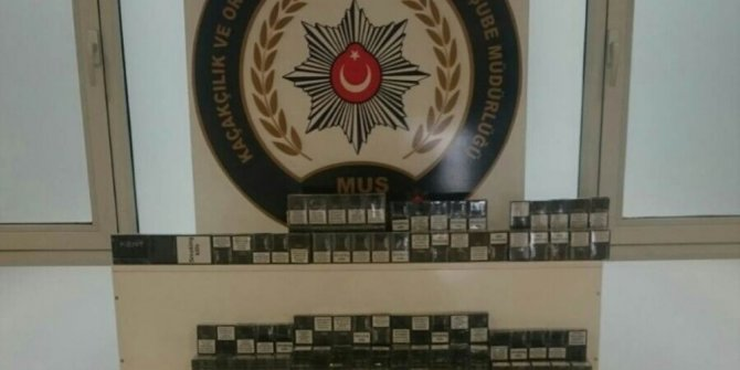 Muş'ta bin 878 paket kaçak sigara ele geçirildi