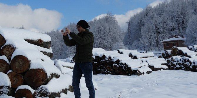 Domaniç Kocayayla kar manzarası ile ziyaretçilerini bekliyor