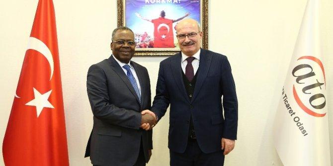 Kongo Cumhuriyeti Büyükelçisi ATO Başkanı Baran'ı ziyaret etti