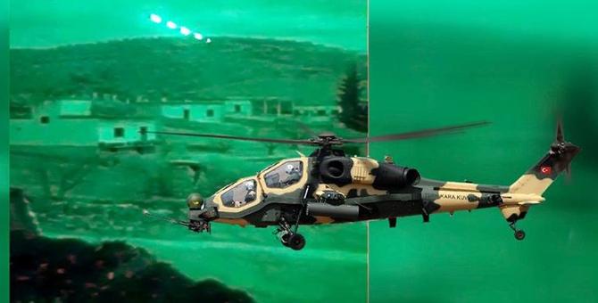 Afrin'de Atak Helikopteriyle 9 Terörist Etkisiz