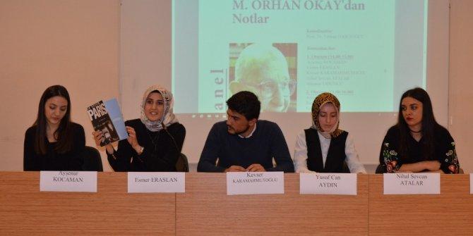Mehmet Orhan Okay SAÜ'de anıldı