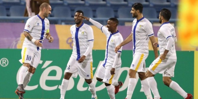 Wesley Sneijder, Katar'da kendini buldu