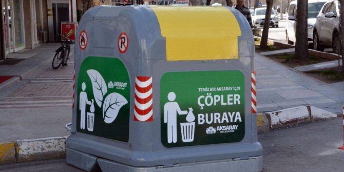 Aksaray'a yeni sistem çöp konteyneri