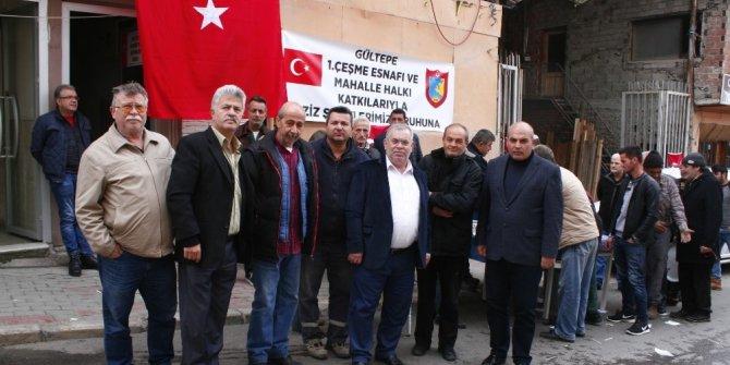 Gültepe esnafı Afrin şehitlerini unutmadı