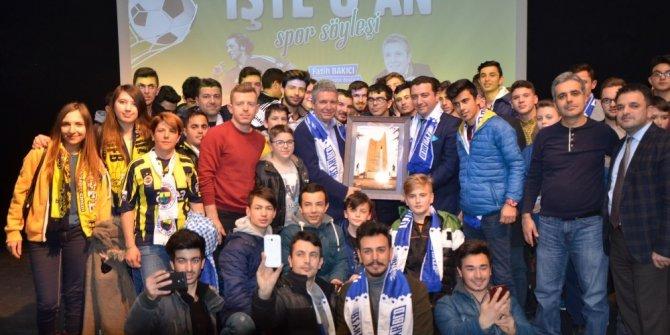 İlhan Mansız ile Erdoğan Arıkan Bozüyük'te sporseverle buluştu