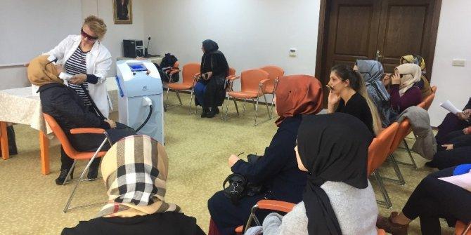 Pursaklar Belediyesinde kadınlara ücretsiz cilt bakımı