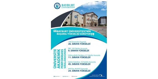 Bayburt Üniversitesi'nin başarılı yükselişi sürüyor