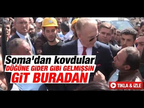 """Uğur Dündar'a Soma'da Protesto """" Düğüne Gider Gibi Gelmişsin"""""""