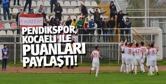 Pendikspor, KocaeliBirlikSpor ile puanları paylaştı!
