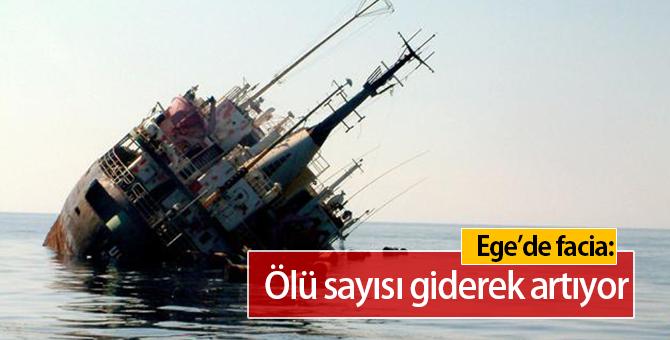 Ege Denizi'nde Göçmen Teknesi Battı : Çok Sayıda Ölü Var