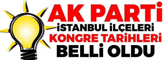 AK Parti istanbul'da ilçe kongre tarihleri  belli oldu
