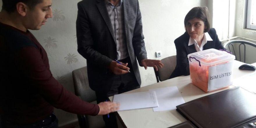 Arıcak belediyesine kura ile personel alımı yapıldı