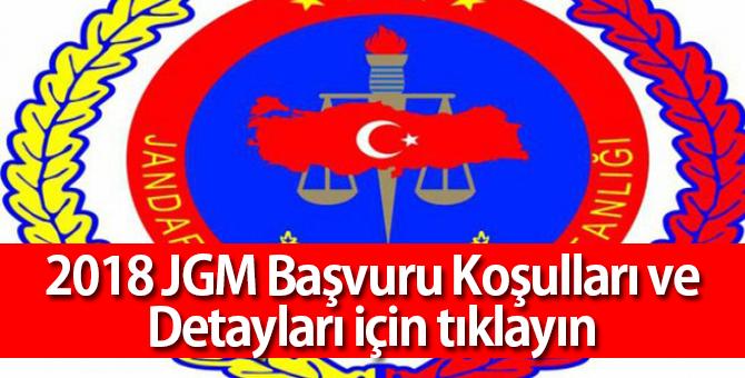Jandarma Genel Komutanlığı Astsubay Alımı Başvuru Koşulları, 2018 JGM Başvuru