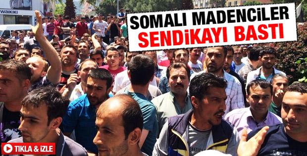 Soma'da İşçiler Ayakkandı