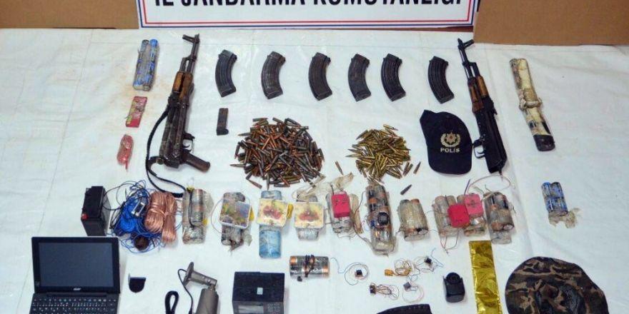 Tunceli'de  bomba düzenekleri ve çok sayıda mühimmat ele geçirildi