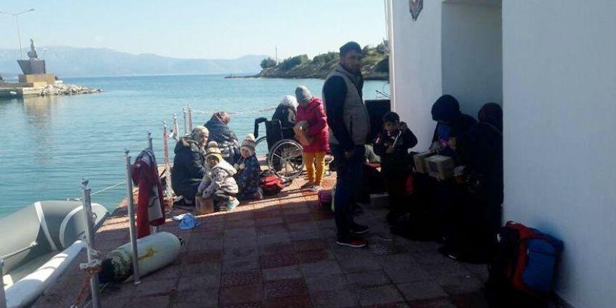 Çeşme'de 28 sığınmacı yakalandı