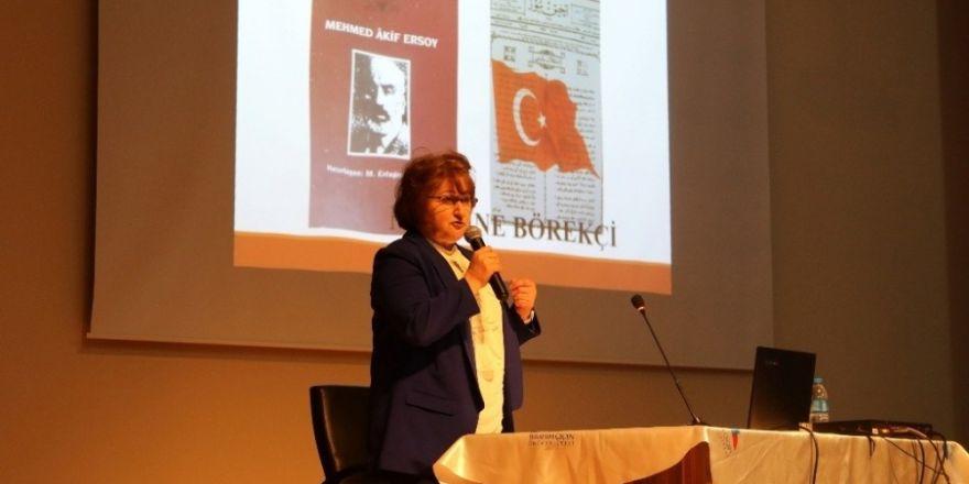 "Ağrı'da ""Safahat'ın Işığında İstiklal Marşı"" Konulu Konferans"