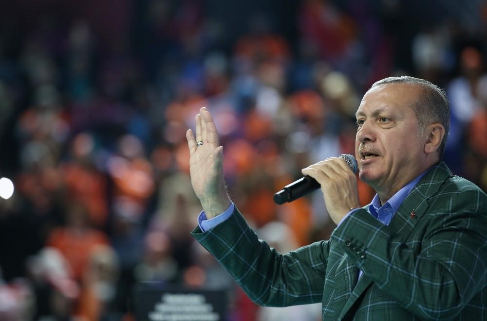"""Erdoğan: """"Münbiç'ten Haseki'ye kadar olan yerleri de Suriye halkı için temizlemeye devam edeceğiz"""""""