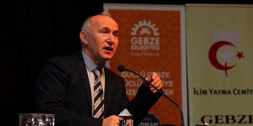 Prof. Dr. Ahmet Şimşirgil, Gebze'de İstiklal'i anlattı
