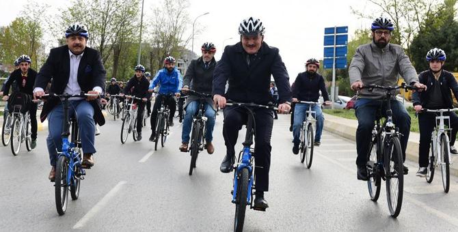 Pendik'te halka açık bisiklet festivali