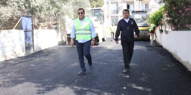 Menderes'te ilk asfalt döküldü