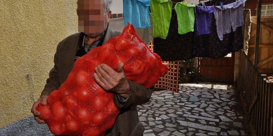 Büyükşehir Belediyesinden kuru soğan yardımı