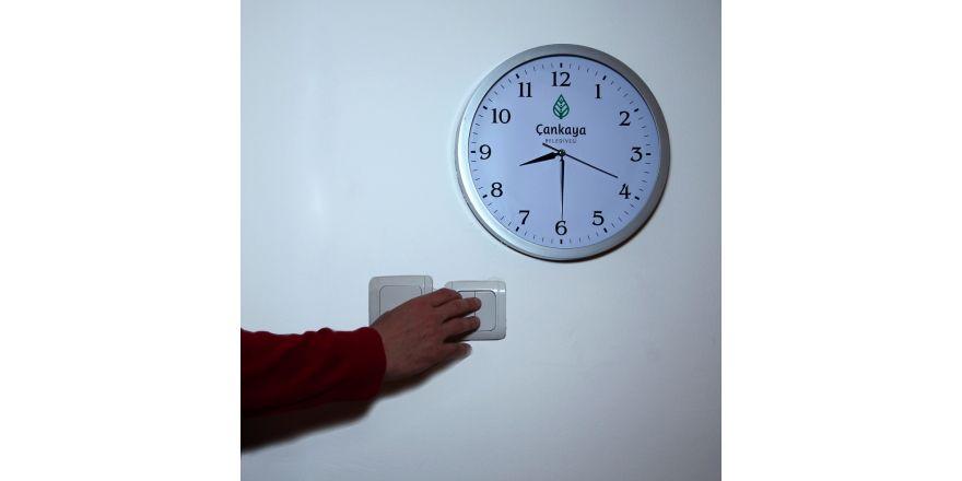 """Çankaya Belediyesinden """"Dünya Saati"""" etkinliğine destek"""