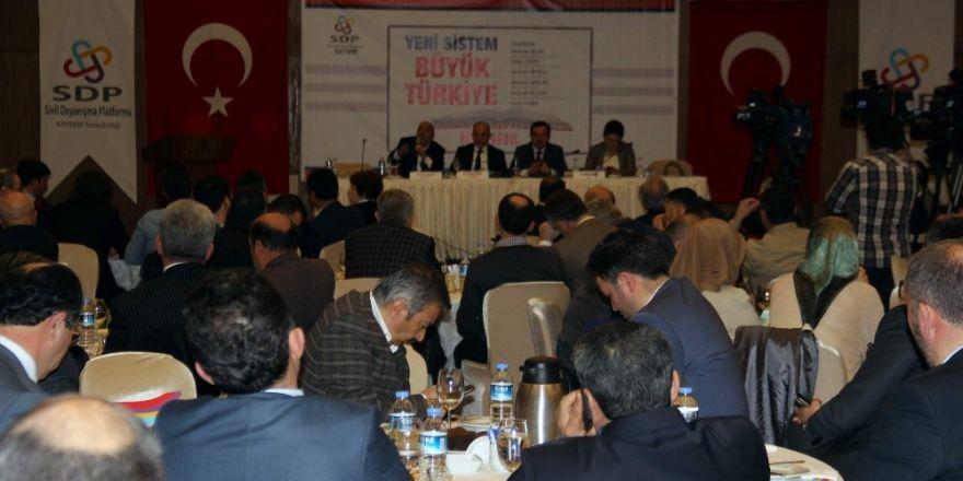SDP tarafından 'Yeni Sistem Büyük Türkiye' paneli
