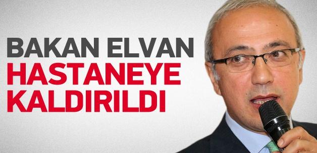 Ulaştırma Bakanı Lütfi Elvan'da hastaneye kaldırıldı