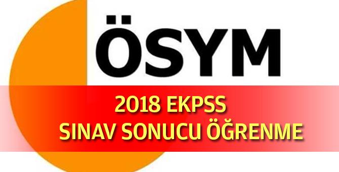 2018 EKPSS Sınav Sonuçu Öğrenme
