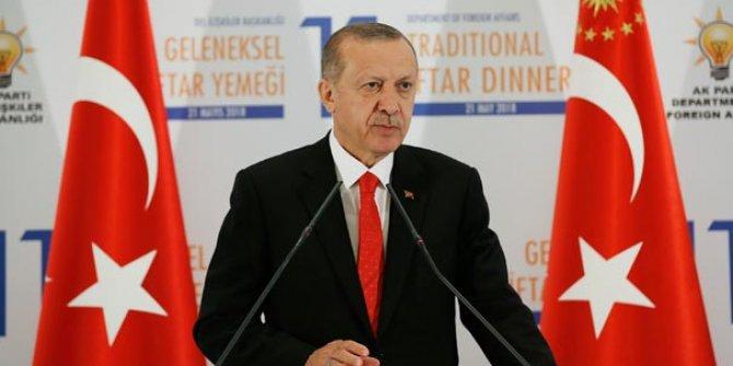 Erdoğan: Kudüs-ü Şerif üzerindeki haklarımızdan taviz vermemekte kararlıyız