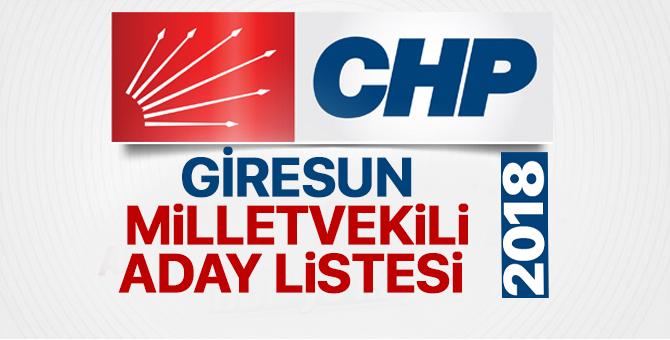 CHP Giresun Milletvekili adayları 2018  kimler oldu? – 24 Haziran erken seçimleri