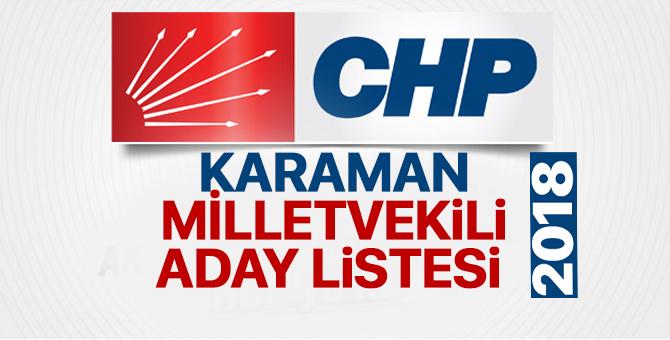 CHP Karaman Milletvekili adayları 2018  kimler oldu? – 24 Haziran erken seçimleri