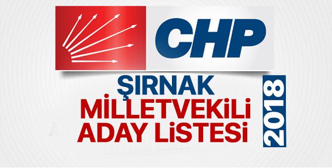 CHP Şırnak Milletvekili adayları 2018  kimler oldu? – 24 Haziran erken seçimleri