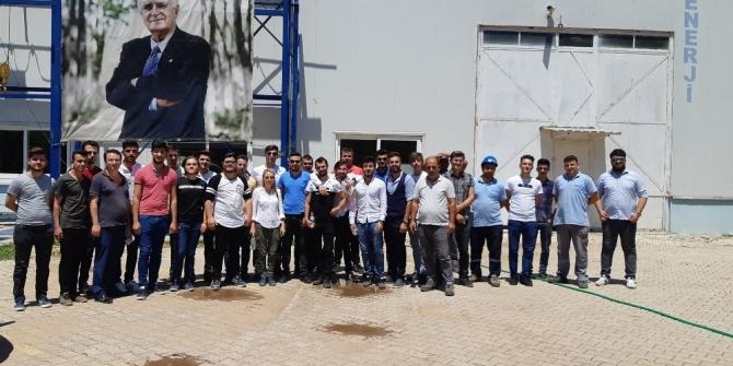 AÜ Öğrencileri Hidroelektrik Santrali'ni inceledi