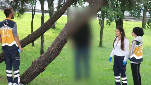 Ağaca asılı bulunan ceset görenleri şoke etti