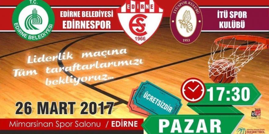 Edirne Belediye Başkanı Gürkan'dan liderlik maçına davet