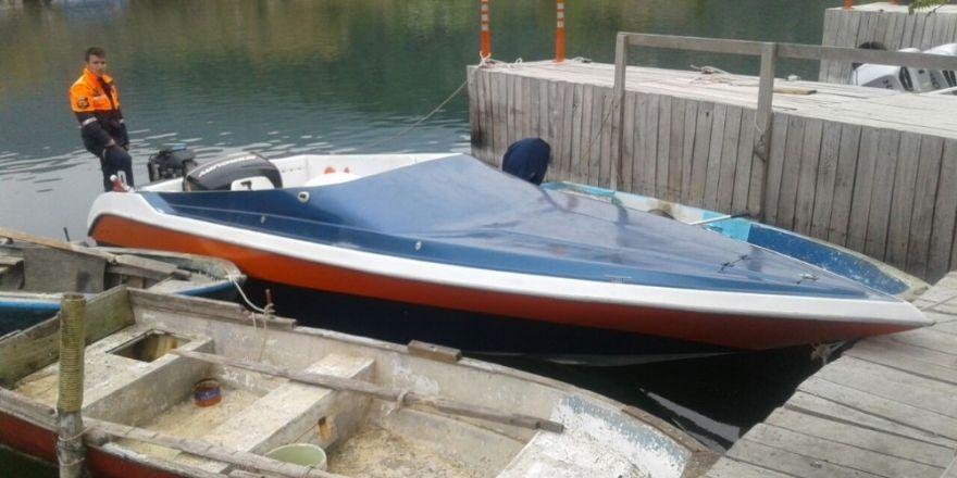 Dalyan'da sürat teknesi ile kaçmaya çalışan sığınmacılar yakalandı
